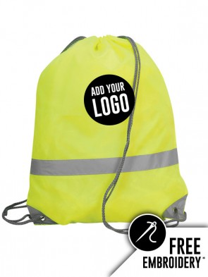 Shugon Stafford Hi-Vis Drawstring Tote Backpack