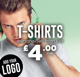 Personalised T-Shirts. Add your logo.