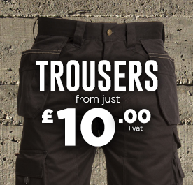 Work Trousers from just £10.00