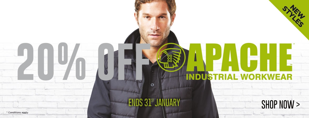20% OFF Apache Workwear. This month only