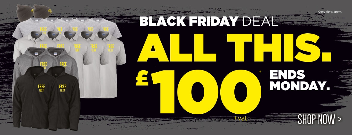 Black Friday Deal. All this workwear for just £100! Ends Cyber Monday