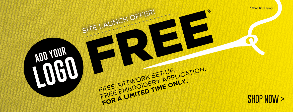Add your logo for FREE! For a limited time only