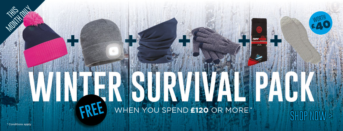 FREE Winter Survival Pack when you spend £120 or more