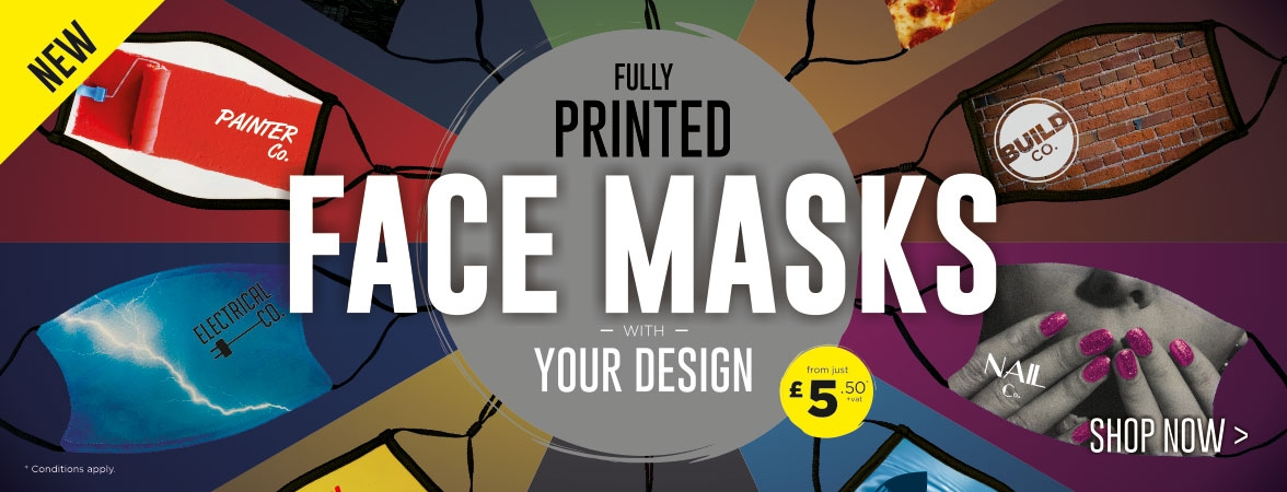 NEW fully printed Face Masks. With your design