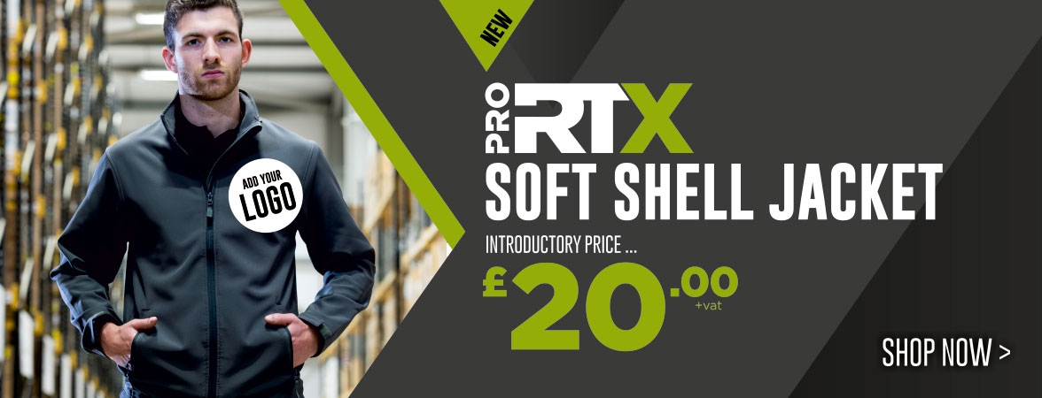 NEW Pro RTX Soft Shell Jacket. Introductory price just £20.00