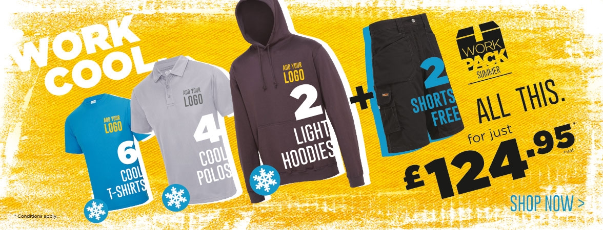The Summer Work Pack. All this for just £124.95. Add your logo FREE