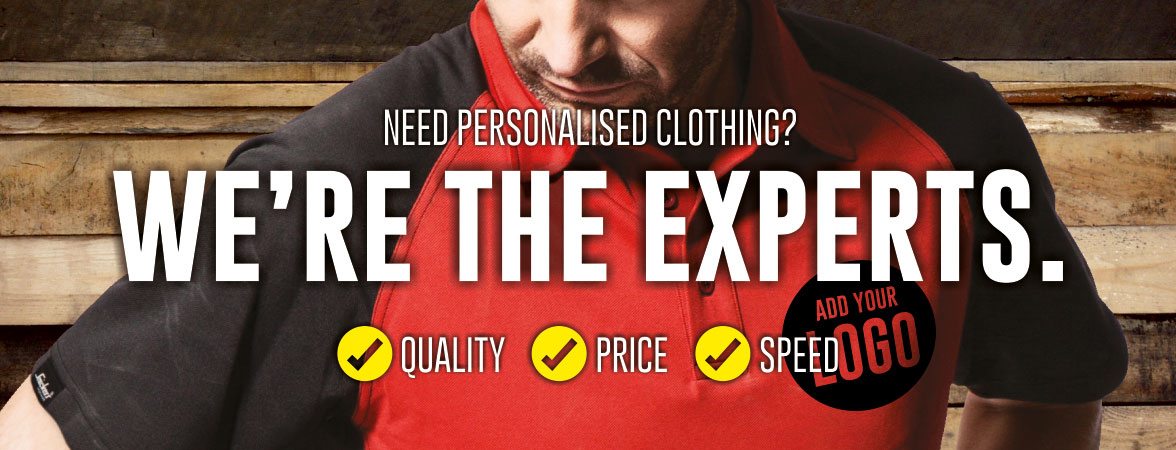 We're the personalised clothing experts